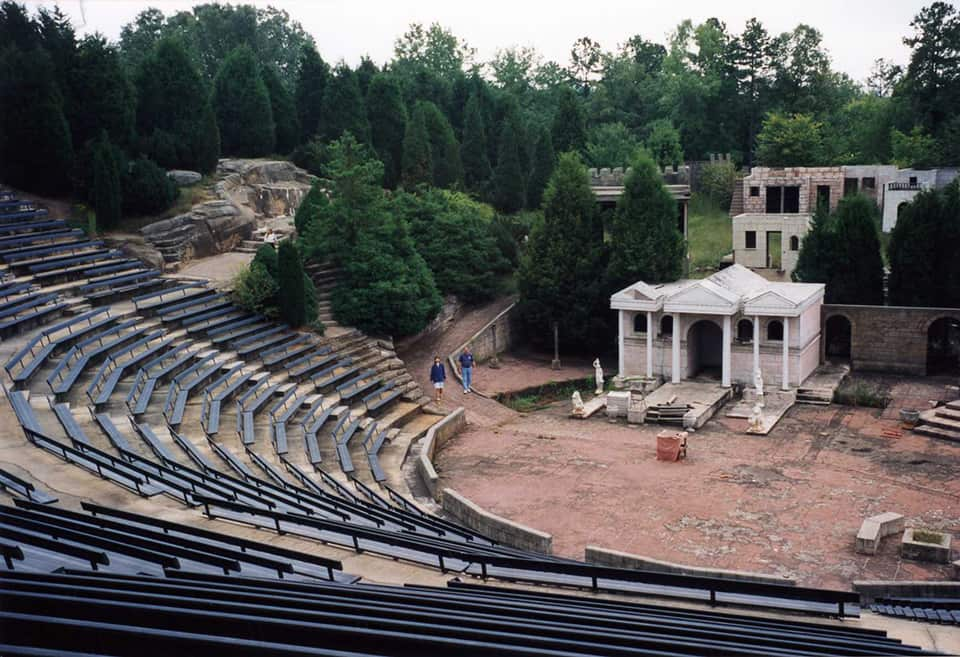 stage right side of old amphitheatre