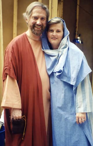 couple in biblical costumes