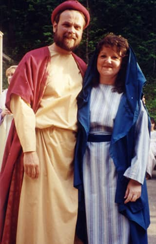man and wife in biblical costume