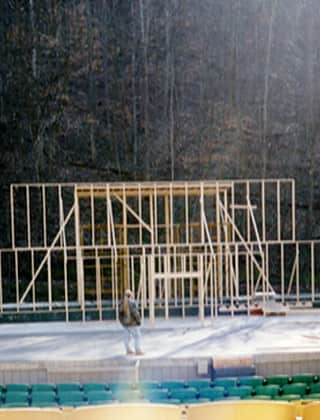 Lumber framing mountain
