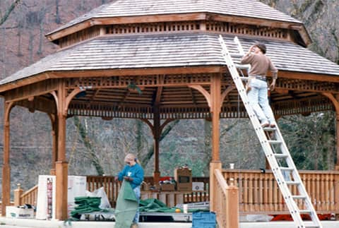 working on gazebo