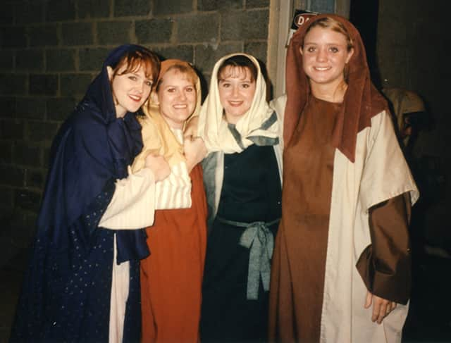girls in biblical costumes