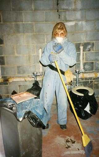 repairing bathrooms