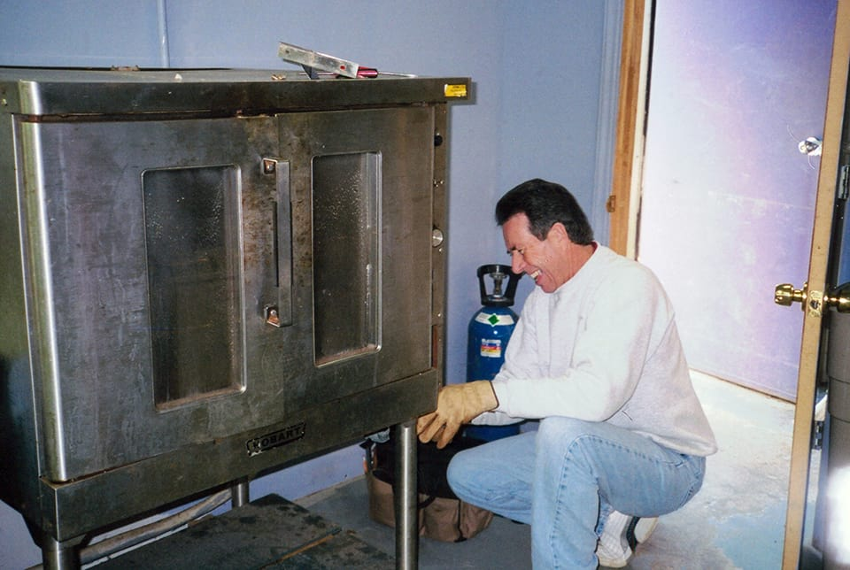 removing commercial oven