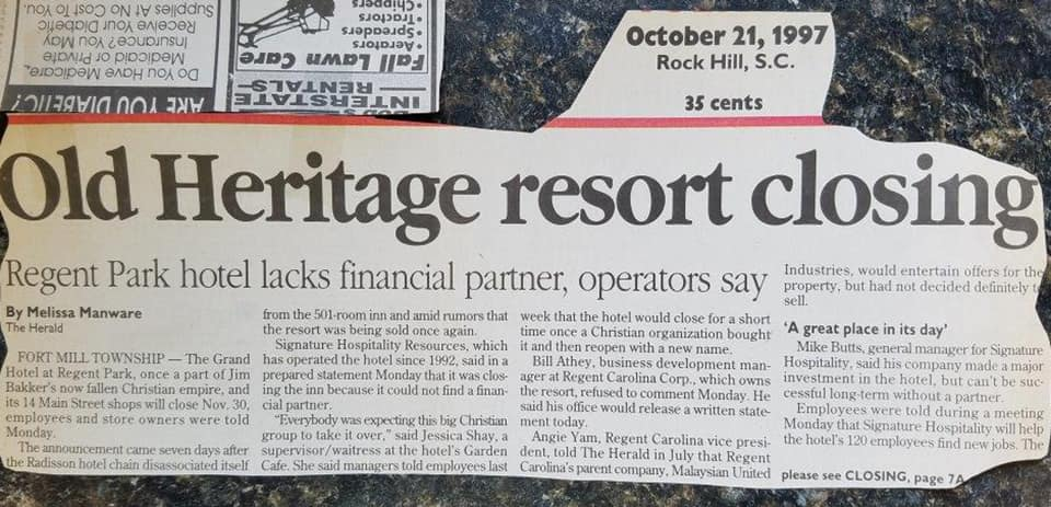 hotel closing news article