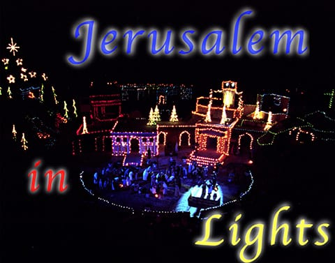 jerusalem in lights show image