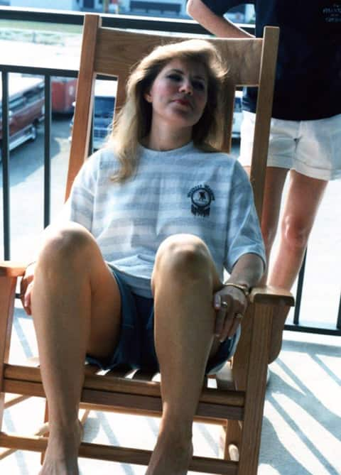 Rebecca in rocking chair