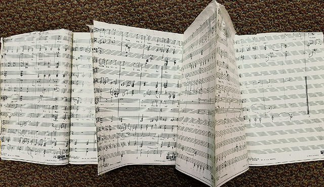 music score taped
