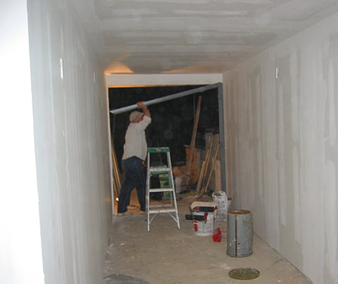 hallway renovation