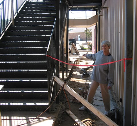 construction at stairwell