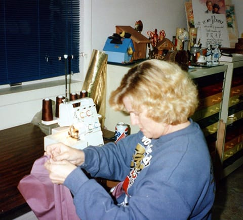 seamstress working