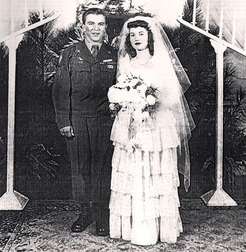 wedding photo 1940's